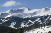 Blowing Snow Framed Prints - Breckenridge Resort Colorado Framed Print by Brendan Reals
