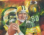 Football Art Posters - Brett Favre Poster by Christiaan Bekker