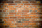 Large House Prints - Brick Wall Print by Frank Tschakert