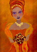 Bridesmaid Paintings - Bridesmaid202 by Linda  Lavid