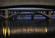 Orange Art - Bridge Reflections by Dave Dilli