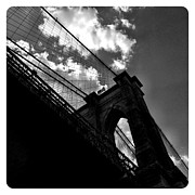 Nyc Digital Art Metal Prints - Bridge to Gotham Metal Print by Natasha Marco