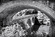 Brickwork Prints - Bridge under a bridge Print by Jane Rix