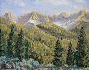 Bridgeport California Prints - Bridgeport Sawtooth Print by Cheryl Bloomfield