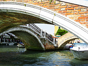 Watercolor Map Photos - Bridges of Venice by Irina Sztukowski
