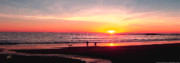 Panoramic Digital Art - Bright Sunset by Ben and Raisa Gertsberg