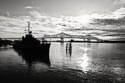 Battleship Photos - Bright Time on the River by Scott Pellegrin