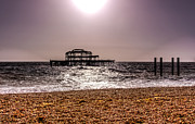 Brighton Beach Framed Prints - Brighton pier Framed Print by Ian Hufton