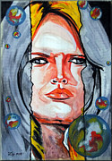 Brigitte Bardot Paintings - Brigitte Bardot by Daniel Janda