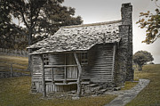 Log Cabin Art Posters - Brinegar Cabin in the Blue Ridge Parkway Poster by Randall Nyhof