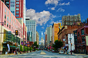 Hall Digital Art Prints - Broad Street - Avenue of the Arts Print by Bill Cannon