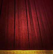 Curtain Digital Art Prints - Broadway Curtain Print by Natasha Marco