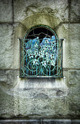 Carve Framed Prints - Broken Stained Glass Window Framed Print by Jill Battaglia