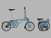 Team Digital Art Prints - Brompton Bicycle Print by Andy Scullion
