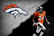Broncos Prints - Broncos Champ Bailey Print by Joe Hamilton