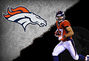 Broncos Metal Prints - Broncos Eric Decker Metal Print by Joe Hamilton
