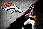 John Denver Art - Broncos John Elway by Joe Hamilton