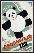 Us National Park Service Posters - Brookfield Zoo Panda Poster by Unknown