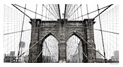 Brooklynbridge Prints - Brooklyn Bridge Print by Daniel Macas