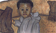African-american Pastels - Brown Eyes by Samara Doumnande