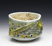 Outdoors Ceramics Originals - Brown Trout Yunomi  by Mark Chuck