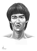 Celebrity Drawings - Bruce Lee by Murphy Elliott