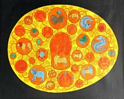 Gond Art Gallery Painting Originals - Bs 81 by Bhajju Shyam