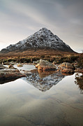 Photo Prints Prints - Buachaille Etive Mor Print by Grant Glendinning