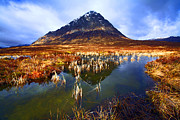 Printed Prints - Buachaille Etive Mor Scotland Print by Craig Brown