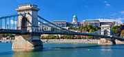 Royal Art - Buda Castle and Chain Bridge in Budapest by Michal Bednarek