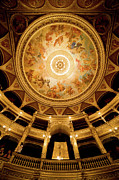 Painted Hall Metal Prints - Budapest Opera House Auditorium and Ceiling Metal Print by Artur Bogacki