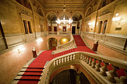 Carpet Photo Posters - Budapest Opera House Interior Staircase Poster by Artur Bogacki