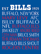 New York Digital Art Metal Prints - Buffalo Bills Metal Print by Jaime Friedman