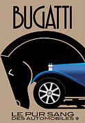 Vector Prints - Bugatti  Print by Gary Grayson