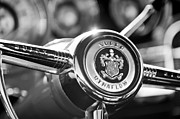 Buick Prints - Buick Eight Steering Wheel Print by Jill Reger