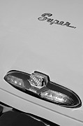 Old Car Posters - Buick Super Dina Flow Emblem Poster by Jill Reger