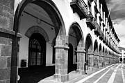 Buildings In Ponta Delgada Print by Gaspar Avila