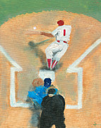 Home Plate Painting Framed Prints - Bunting Wiz Framed Print by Jorge Delara