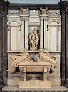 Michelangelo Framed Prints - Buonarroti Michelangelo, Tomb Framed Print by Everett