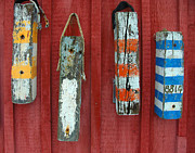 Rockport Art - Buoys at Rockport Motif Number One Lobster Shack Maritime by Jon Holiday