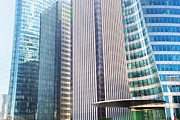 Enterprise Metal Prints - Business skyscrapers modern architecture Metal Print by Michal Bednarek
