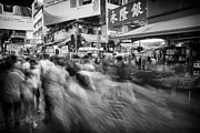 Long Street Prints - busy Hong Kong Print by Kam Chuen Dung