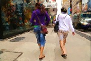 Karol  Livote - Busy Sidewalks