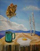 Dali Like Prints - Butterflied Egg Print by Jack Bordenca