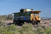 Caboose Photo Prints - Caboose  Print by Diane  Greco-Lesser