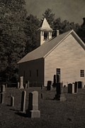 Gatlinburg Tennessee Prints - Cades Cove Primitive Baptist Church Print by Dan Sproul