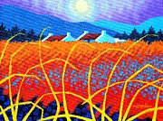 Field Framed Prints Prints - Cadmium Meadow Print by John  Nolan