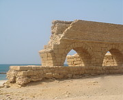 Slaves Posters - Caesarea Israel ancient Roman city port Poster by Robert Birkenes