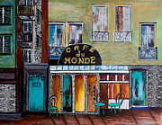 Parisienne Painting Framed Prints - Cafe du Monde Framed Print by Barbara McMahon