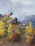 Colorado Western Gallery Prints - Call of the Wild Print by Bev Finger